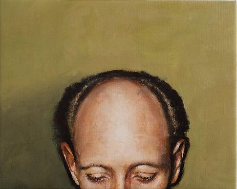 Primate series IX, 45x36cm, oil on canvas, 2018 Luís Troufa