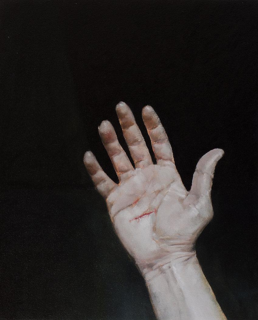 2014, Hand Cut, 40x49,5 cm, oil on canvas