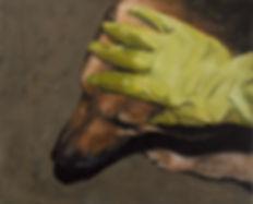 2014, Dog, 40x49,5 cm, oil on canvas