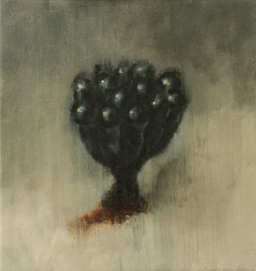 2012, Cortex Fungus series, 33x31 cm, oil on canvas