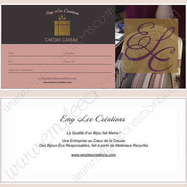 Chèque Cadeaux Version Papier avec Envel