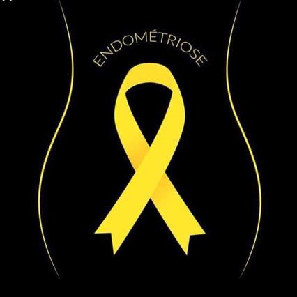 Le ruban jaune, symboles de la lutte contre l'endométriose