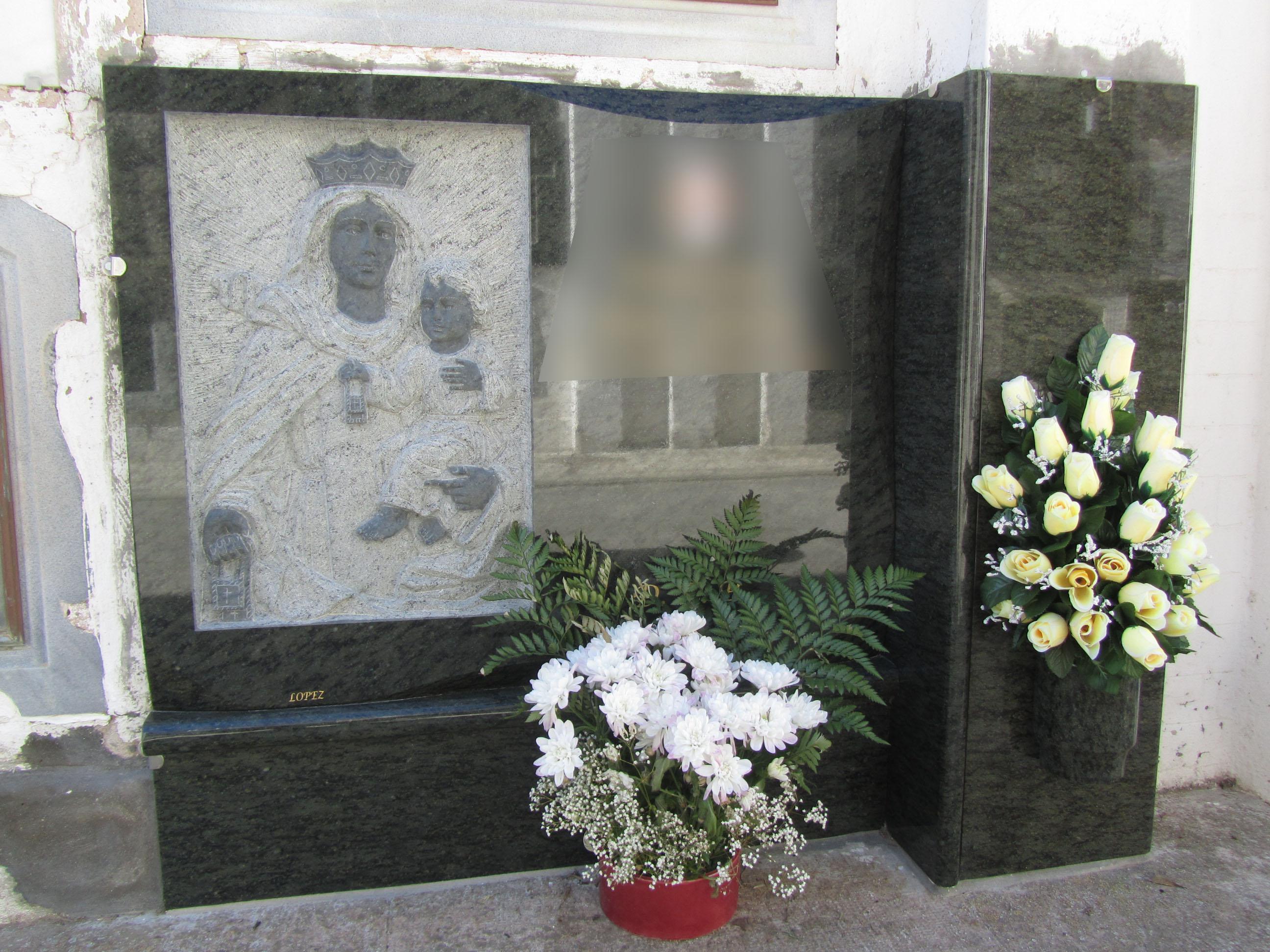 Lapida Virgen del carmen