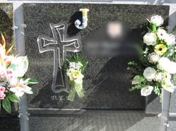 Lapida con cruz papel