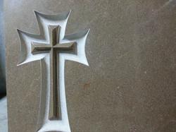 Lapida cruz en borriol