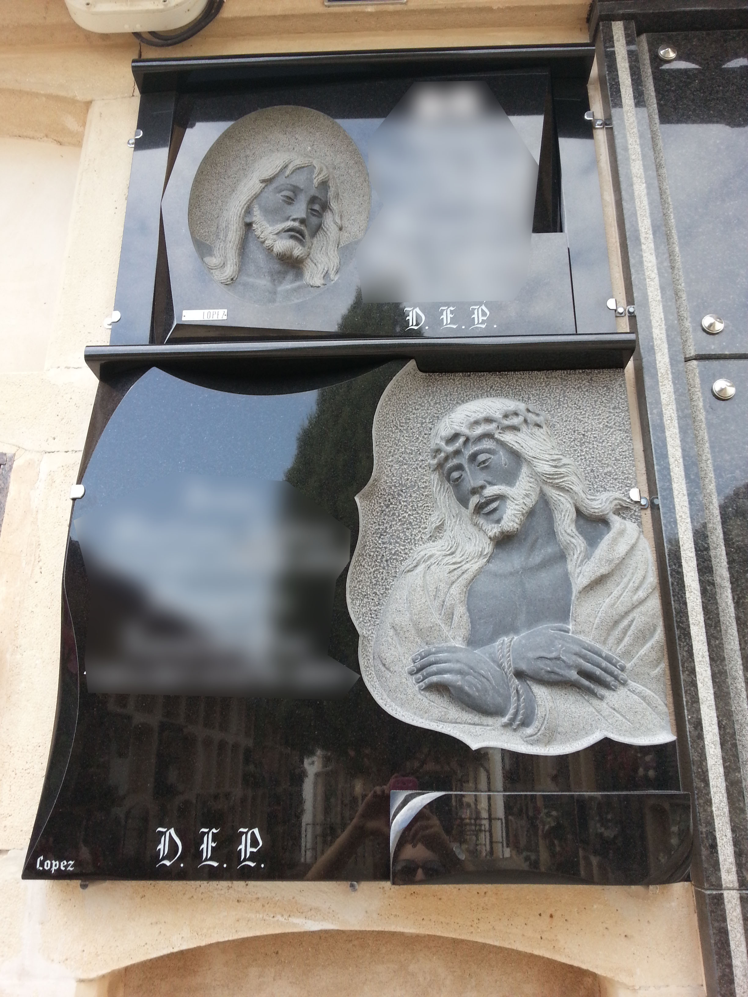 Lapida union de dos lapidas