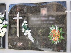 Lapida cruz 3 barillas Inox