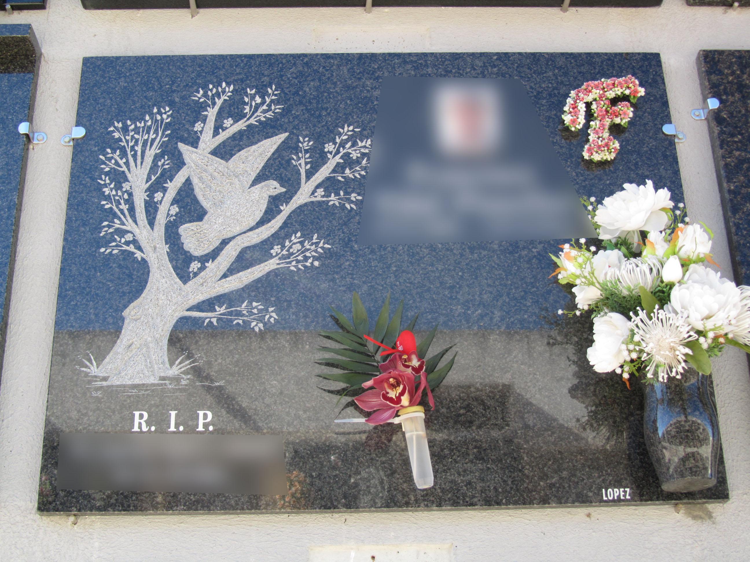Lapida arbol con paloma
