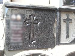 Lapida con cruz plana fondo pulido