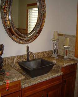 Encimera de baño de granito