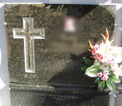 Lapida de granito verde