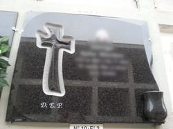 Lapida de granito gris