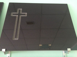Lapida cruz recta plana