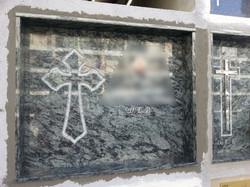 Lapida cruz plana con forma