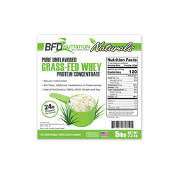 BFD Grass-Fed Whey Label