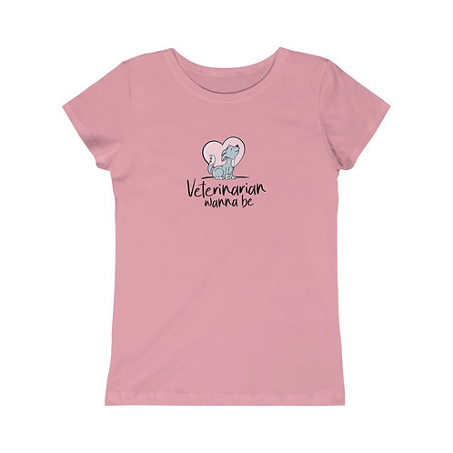 Veterinarian Wanna Be - Wolf - Girls Soft Cotton Junior Fit Tee