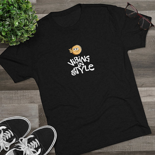 Peace, Vibing in Style - Men's Tri-Blend Crew Tee