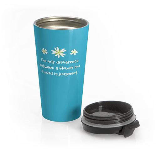 Chickweed - Teal Stainless Steel Travel Mug