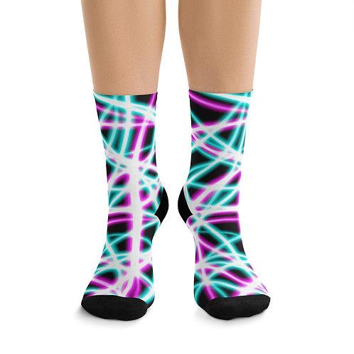 Light Swirls- DTG Socks
