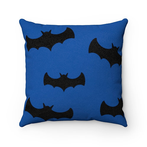 Bats - Faux Suede Square Pillow Case