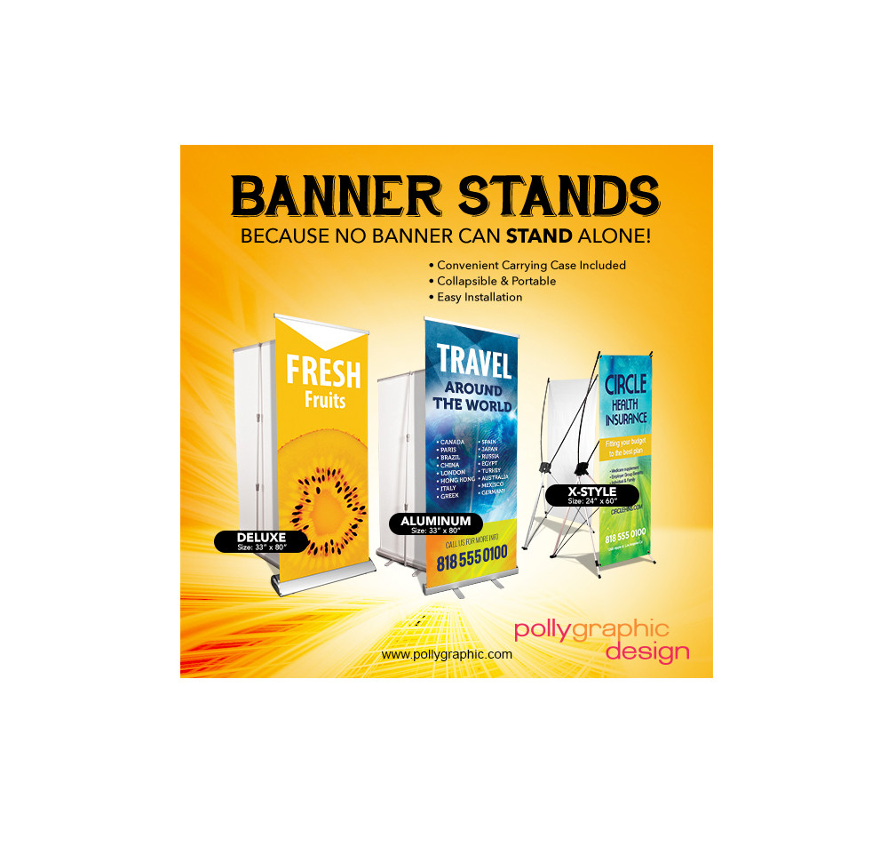Banner Stands of All Kinds