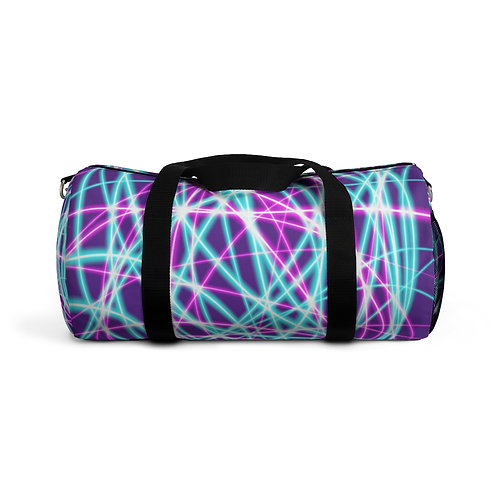 Purple Light Swirls- Duffel Bag