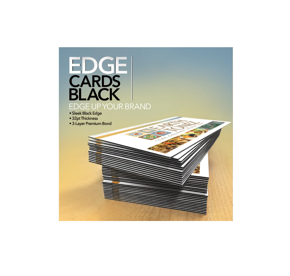 Edge Cards in Black (and other colors too!)