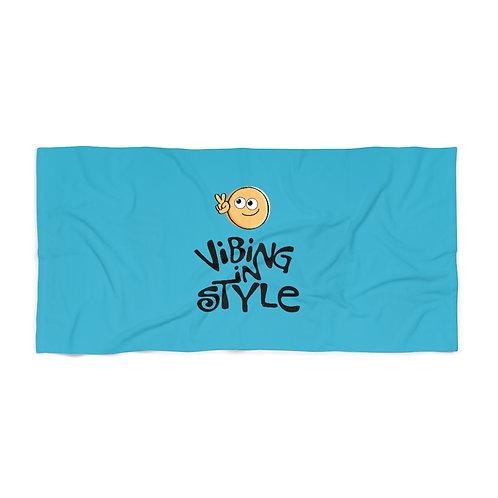 Peace, Vibing in Style - Beach Towel