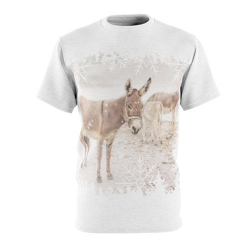 Donkeys in the Snow - Unisex Tee