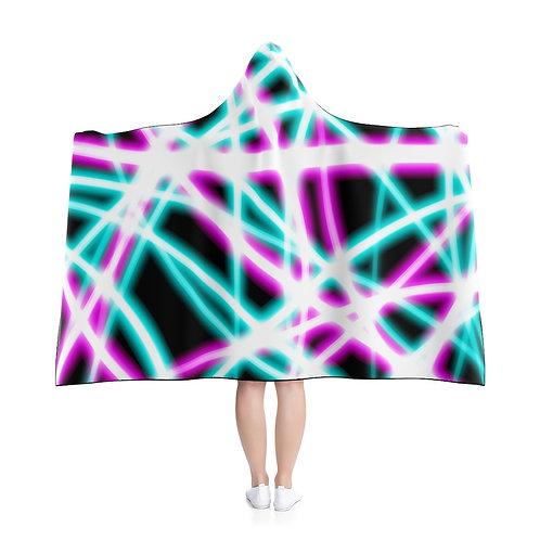 Black Light Swirls - Hooded Blanket