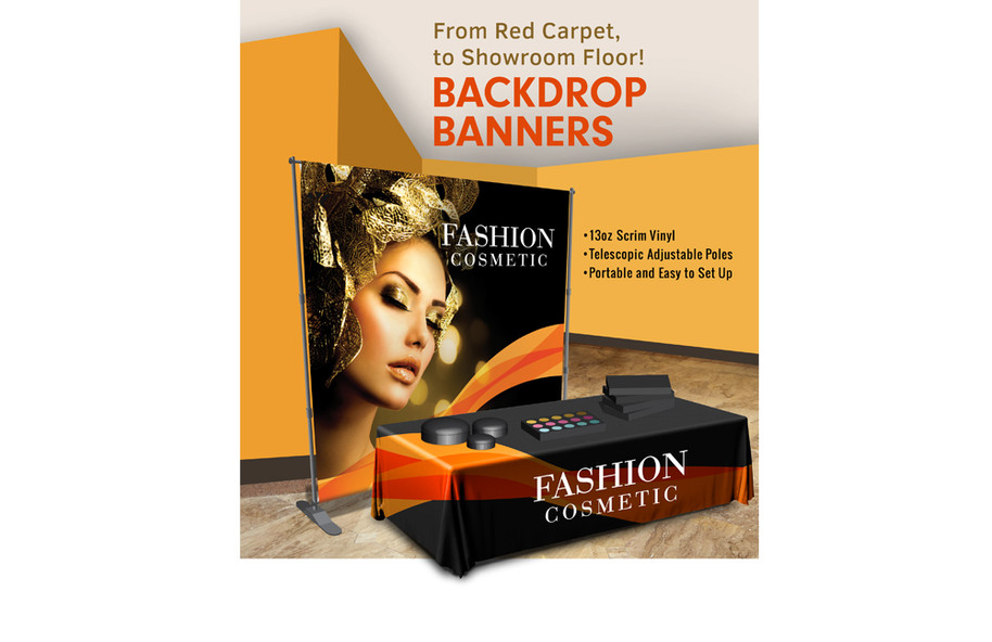Tradeshow Displays, Banners, Backdrops, Tablecloths