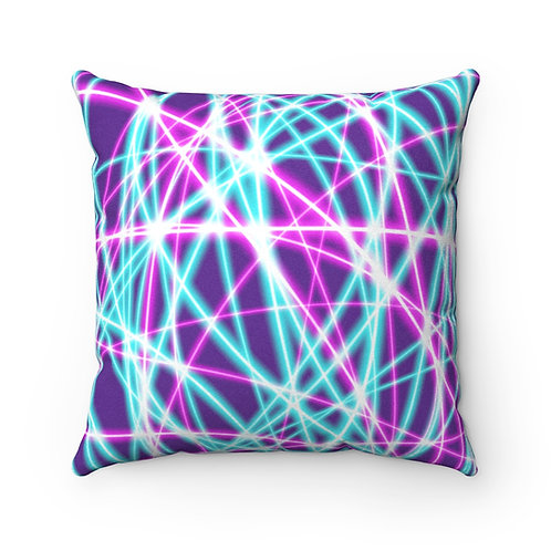 Purple Light Swirls - Faux Suede Square Pillow Case