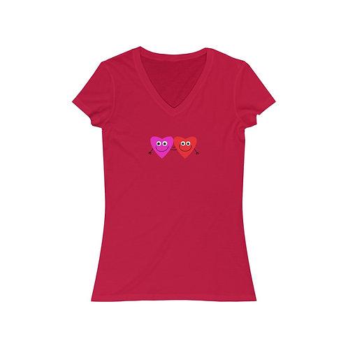 Hearts of Joy - Women's Jersey V-Neck Tee