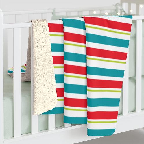 Elf Stripes - Sherpa Fleece Blanket