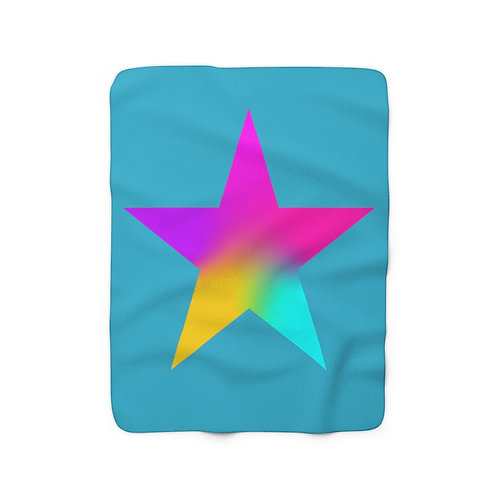 Star of Color - Sherpa Fleece Blanket