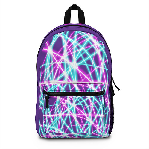 Purple Light Swirls - Backpack (Made in USA)