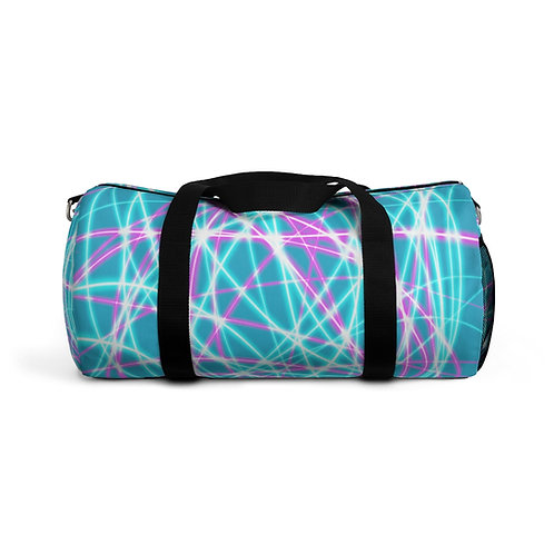 Teal Light Swirls- Duffel Bag