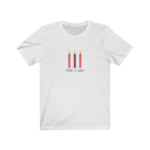 Make a Wish - 3 Candles - Unisex Jersey Tee