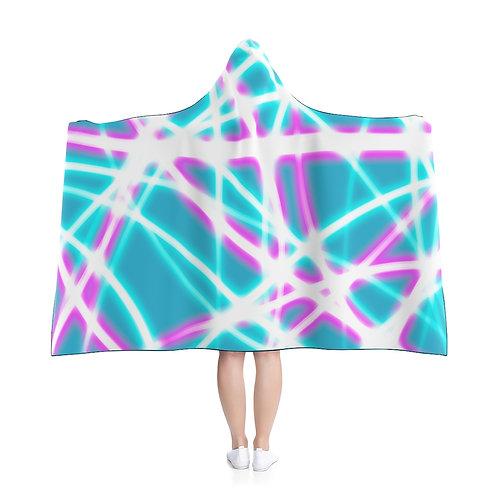 Teal Light Swirls - Hooded Blanket