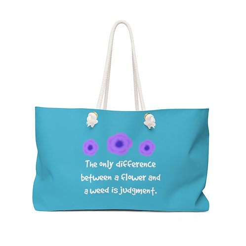 Violet Quote - Teal Herb Gathering Bag