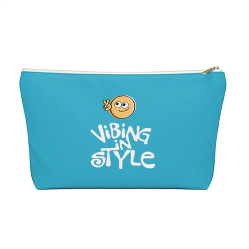 Peace, Vibing in Style - Accessory Pouch w T-bottom
