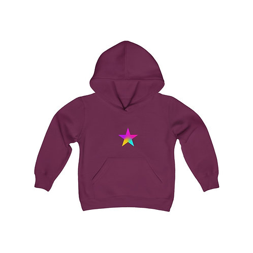 Star of Color - Youth Heavy Blend Hooded Sweatshirt