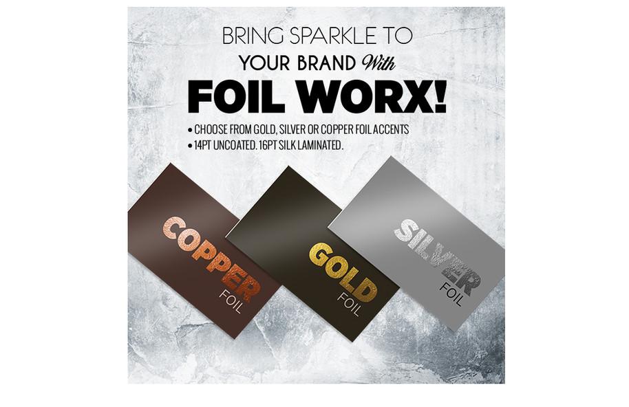 Foil in Copper, Gold & Silver