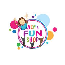 Logo for Aly's Fun Shop