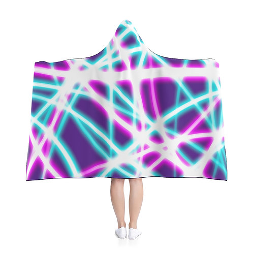 Purple Light Swirls - Hooded Blanket