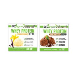BFD Whey Protein Blend Labels