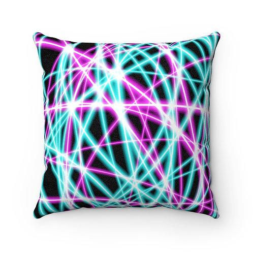 Black Light Swirls - Faux Suede Square Pillow Case