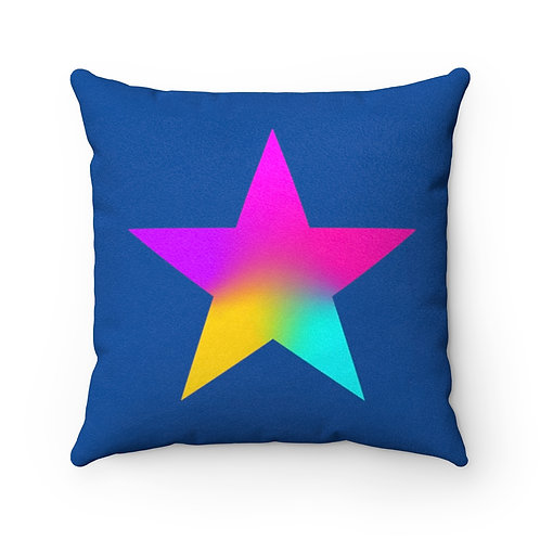 Star of Color - Faux Suede Square Pillow Case