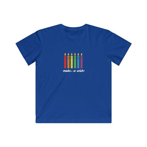 Make A Wish - Rainbow Candles - Kids Tee