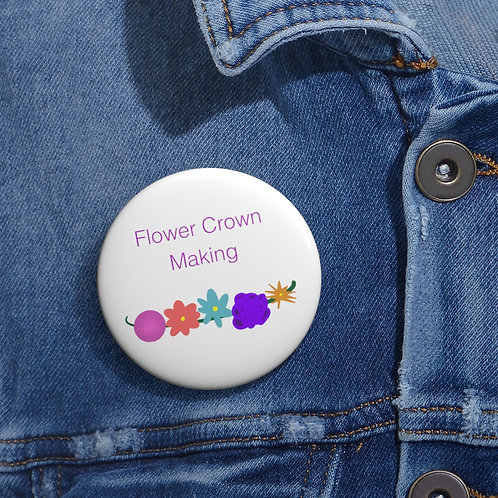 Friend Scouts - Flower Crown Making Badge -  Pin